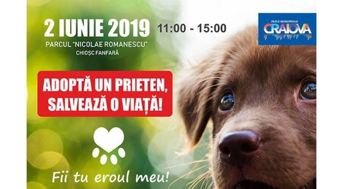 Craiova: Târg de adopții canine și surprize pentru copii duminică, în Parcul Romanescu
