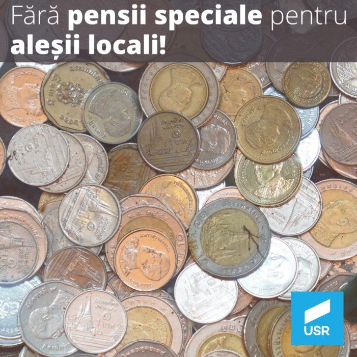 USR Mehedinți se opune ferm pensiilor speciale pentru aleșii locali