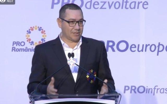 Ponta: Am insistat doar pe obiectivul principal al ProRomania – o schimbare radicala fata de tot ceea ce s-a intamplat din Ianuarie 2017 si pana in 27 Mai 2019