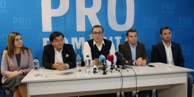PRO Romania susţine moţiunea de cenzură