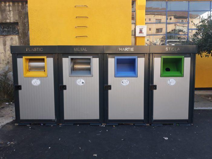 Noi containere pentru colectarea selectivă a deşeurilor amplasate în Râmnicu Vâlcea