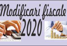 modificari, fiscale, 2020